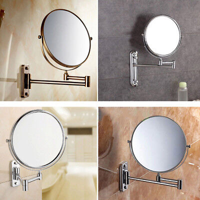 Two-Sided 10x Magnifying Wall Mount Swivel Make up Shaving Mirror Extendable US - Extendable Shaving Makeup Mirror