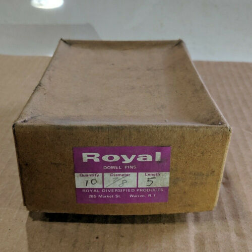 """Pack of 10 - 7/8"""" x 5"""" Royal Dowel Pins Alloy Steel"""