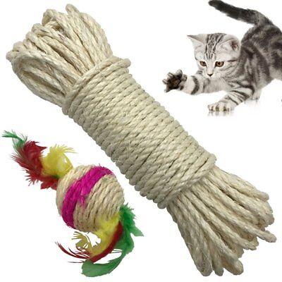Yangbaga Cat Natural Sisal Rope for Scratching Post Tree Replacement, Hemp Rope ()