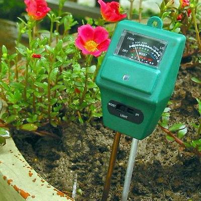 3 in 1 PH Tester Soil Water Moisture Light Test Meter for Garden Plant Flower KA