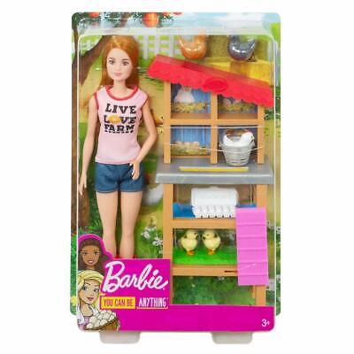Barbie Chicken Farmer Doll, Playset with Henhouse,Chickens and more