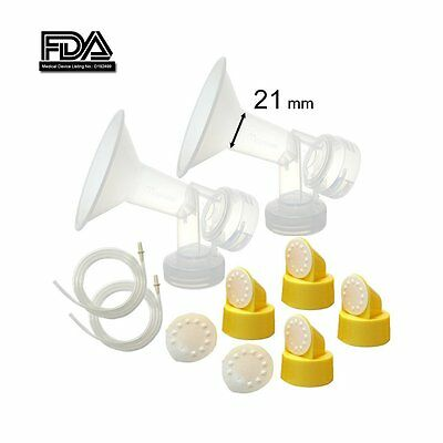Maymom Breast Pump Kit for Medela Breastpumps, 21 mm Breastshields, by Maymom