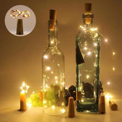 10pcs Warm Wine Bottle Cork Shape Lights 20 LED Night Fairy String Lights - Stringed Lights