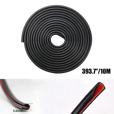 (Edge Door Guard Trim Car Moulding Guards Auto Molding Protector 32ft Strip Black)