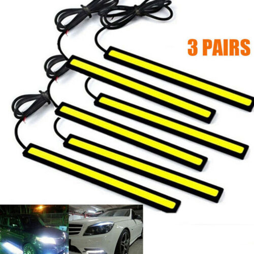Car Parts - 6x Super Bright COB White Car LED Lights for DRL Fog Driving Lamp Waterproof 12V