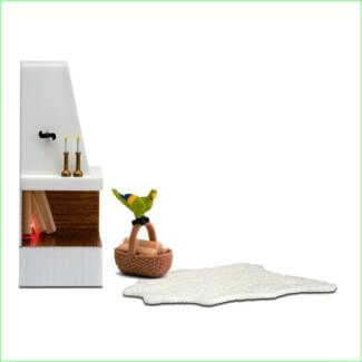 Lundby Smaland Dolls House Furniture Corner Fire Place NEW Somersby Gosford Area Preview