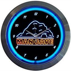 Mancave Neon Clock 15x15