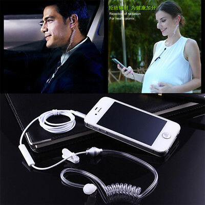 3.5mm Anti-Radiation FBI Popular Mono Earphones Stereo Air Tube Earpiece - Earphones Earpieces
