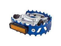 "New Wellgo LU-953 BMX Bicycle Bike Bear Trap Style Pedals 9//16/"" Silver"