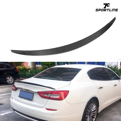 For Maserati Quattroporte Sedan 13-15 Rear Trunk Spoiler Boot Wing Carbon Fiber