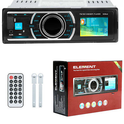 Car Stereo Radio In-dash Head Unit Player FM MP3/USB/AUX for iPod iPhone Android