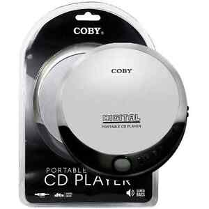 Coby Slim Digital LCD Display Portable Compact Personal CD Player - Silver