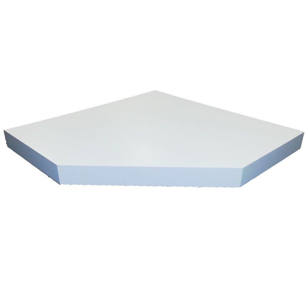 floating corner shelf wall mounted space saver shelves w. Black Bedroom Furniture Sets. Home Design Ideas
