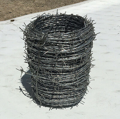 Galvinized Barbed Wire - 300 feet per roll - 16 gauge - HIGH STRENGTH