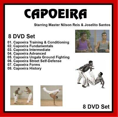 CAPOEIRA 8 DVD Set w/ Nilson Reis and Joselito Santos Brazil fundamentals mma