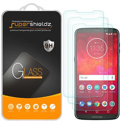 3X Supershieldz Tempered Glass Screen Protector for Motorola Moto Z3 / Z3 Play