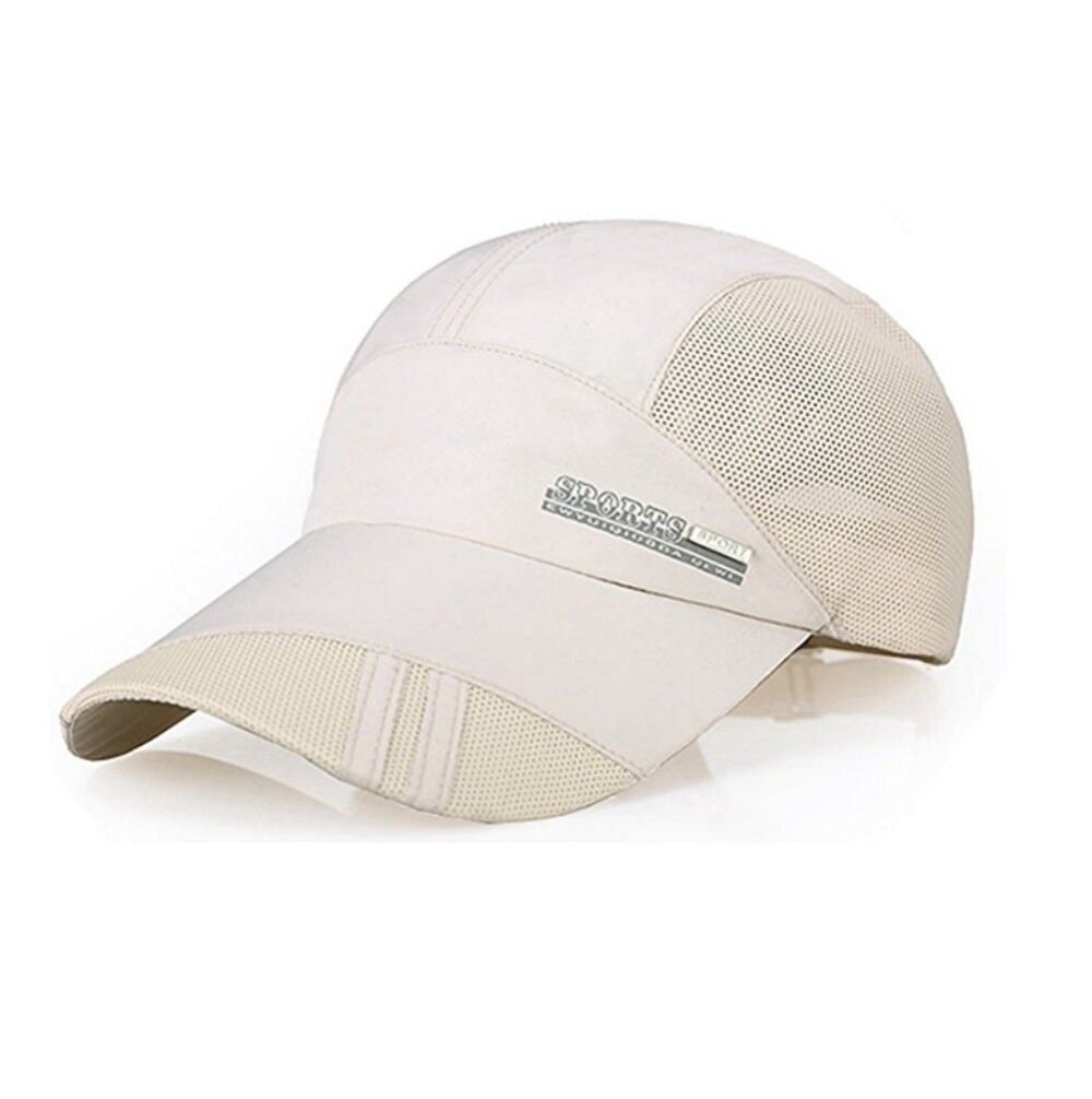 Summer Outdoor Visor Quick-drying Cap Sports Baseball Caps Mesh Breathable Hats Clothing, Shoes & Accessories