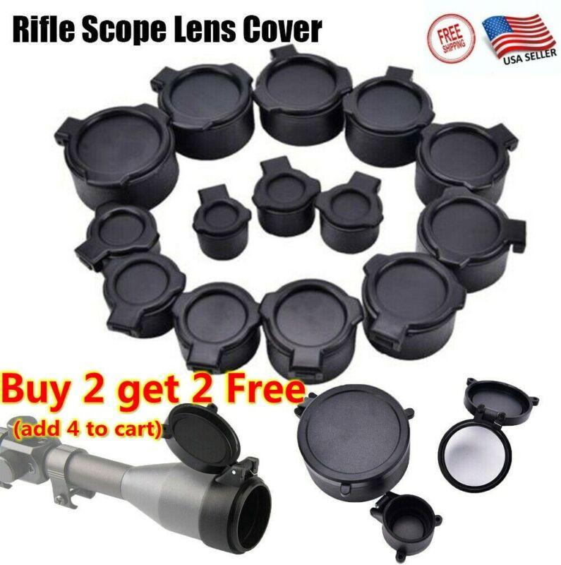 24 Size Scope Len Cover Flip Up Cap Objective Lense Lids Quick Spring Protection