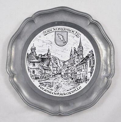 Tin Plate Feuerwehrkapelle Neckargerach (23cm) Decorative Plate/Wall Plate