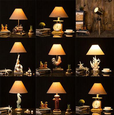 Glitzhome Novelty 8 Designs Vintage Antique Table Lamp Office Bedside Desk Light