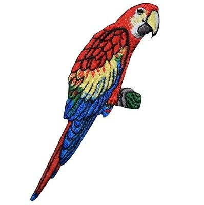 "Parrot Applique Patch - Macaw, Bird, Animal Badge 4"" (Iron on) for sale  Shipping to India"
