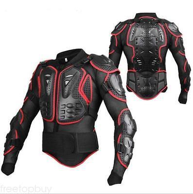 - Motorcycle Full Body Armor Jacket Street Bike Back Shoulder Protector Gear Red