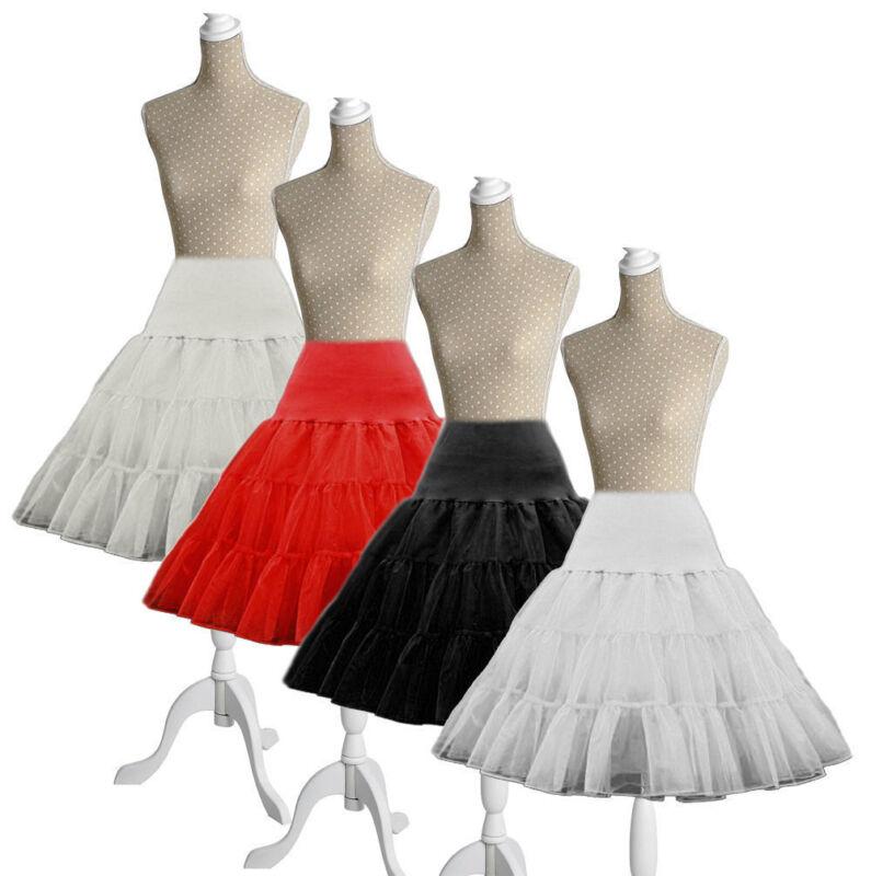 """26"""" Net Skirt Rockabilly Tutu Retro Underskirt 50s Swing Vintage Petticoat Fancy"""