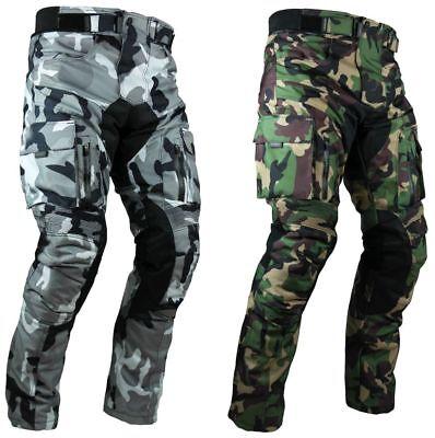Heyberry Motorrad Hose camouflage weiß grün mit Oberschenkeltaschen Gr. M -7XL