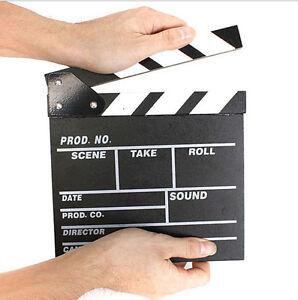 Director Video Scene Clapperboard TV Movie Clapper Board Film Slate Cut Prop  GA