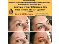 Tired of spending ages doing your make up? Permanent make up/cosmetic tattooing - brows and eyeliner
