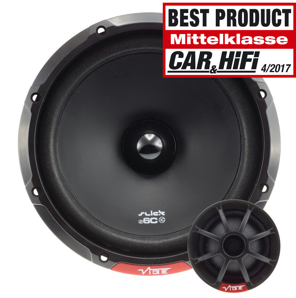 Vibe Slick 6 C V7 16,5 cm 2 Weg System NEU von More dB Car Audio