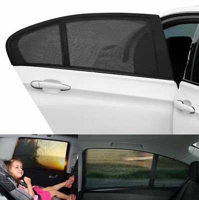 2X Car UV Side Rear Window Sun Visor Shade Mesh Cover Shield Sunshade Protect