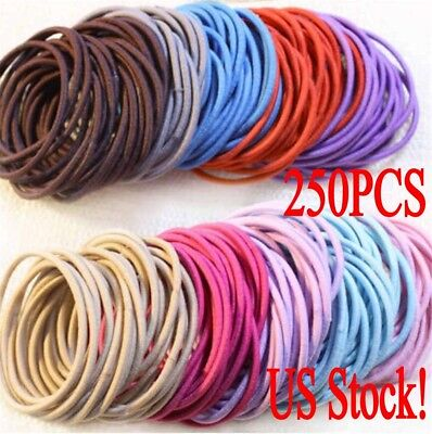 Lot Fashion Elastic Rope Women Hair Ties Ponytail Holder Head Band Hairbands US