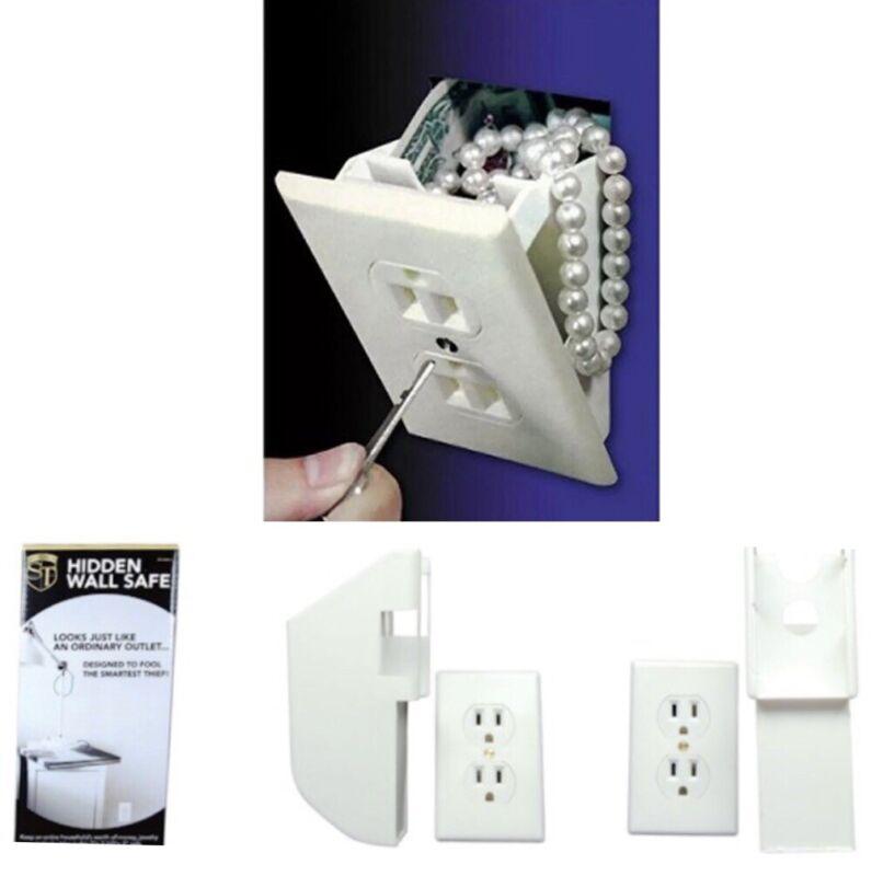 Wall Safe Electrical Outlet Socket Diversion Hidden Home Security Secret Stash