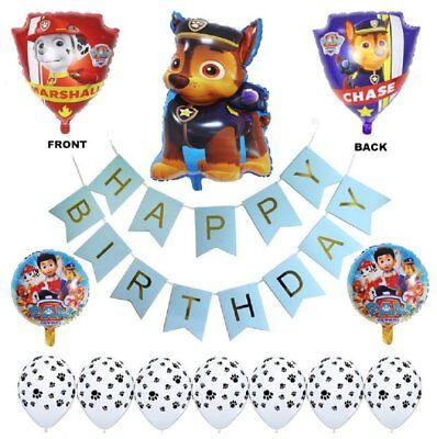 Paw Patrol Birthday Party Balloons - Complete Kids Themed Party Decorations -