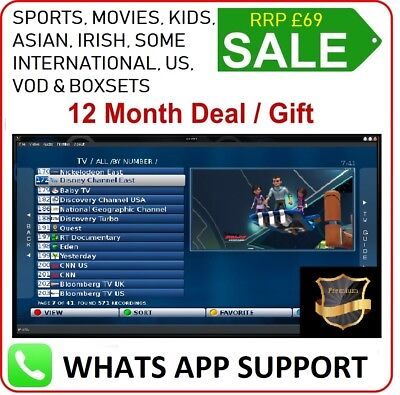 12 Months IPTV Warranty Gift Zgemma magbox android IOS SmartTV firestick Openbox