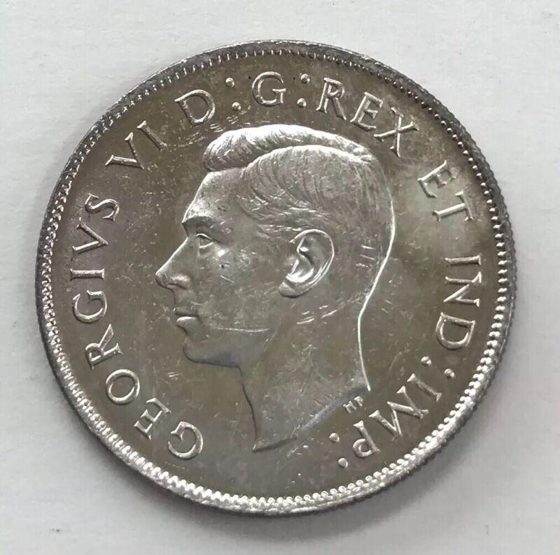 1945 Canada Half Dollar 50 Cent AU+