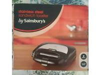Stainless Steel Sandwitch Toaster by Sainsbury's