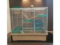 Rosewood Triple Level Hamster Cage Inc. Accessories in Good Condition
