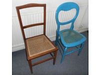 Cane Seated Bedroom Chairs - £12 each