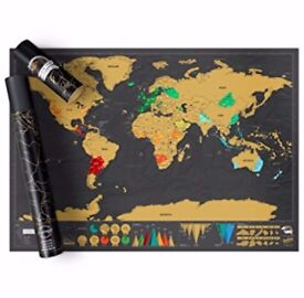 Scratch map personlised world edition