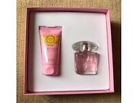 Versace Bright Crystal perfume 30ml and body lotion 50ml.