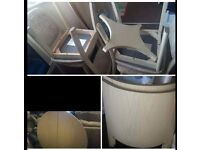 Cream round table and 4 chairs