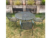 Quality iron garden table and chairs