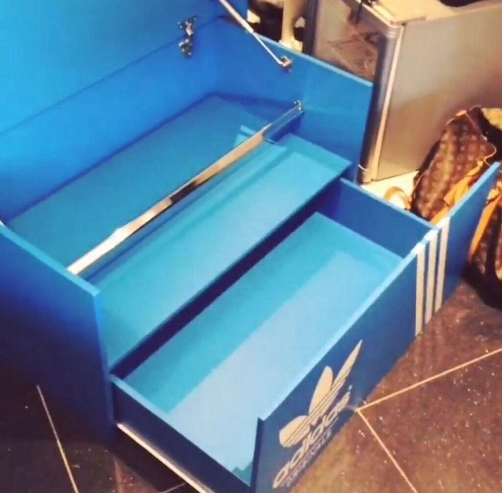 Corner Sofa Leeds Gumtree: LARGE ADIDAS SHOE STORAGE BOX CUSTOM MADE