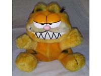 GARFIELD THE CAT SOFT TOYS x3 - RETRO 1980s CLASSIC CARTOON CHARACTER VINTAGE 13""