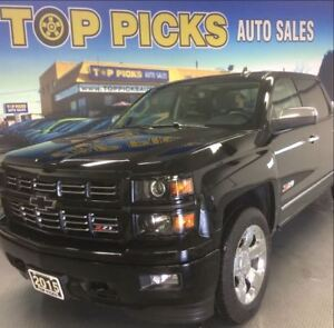 2015 Chevrolet Silverado 1500 LOADED Z71, LEATHER, NAVI, CHROME