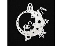Christmas tree bauble metal cutting die Snowman Xmas tree Snowflakes cutting die