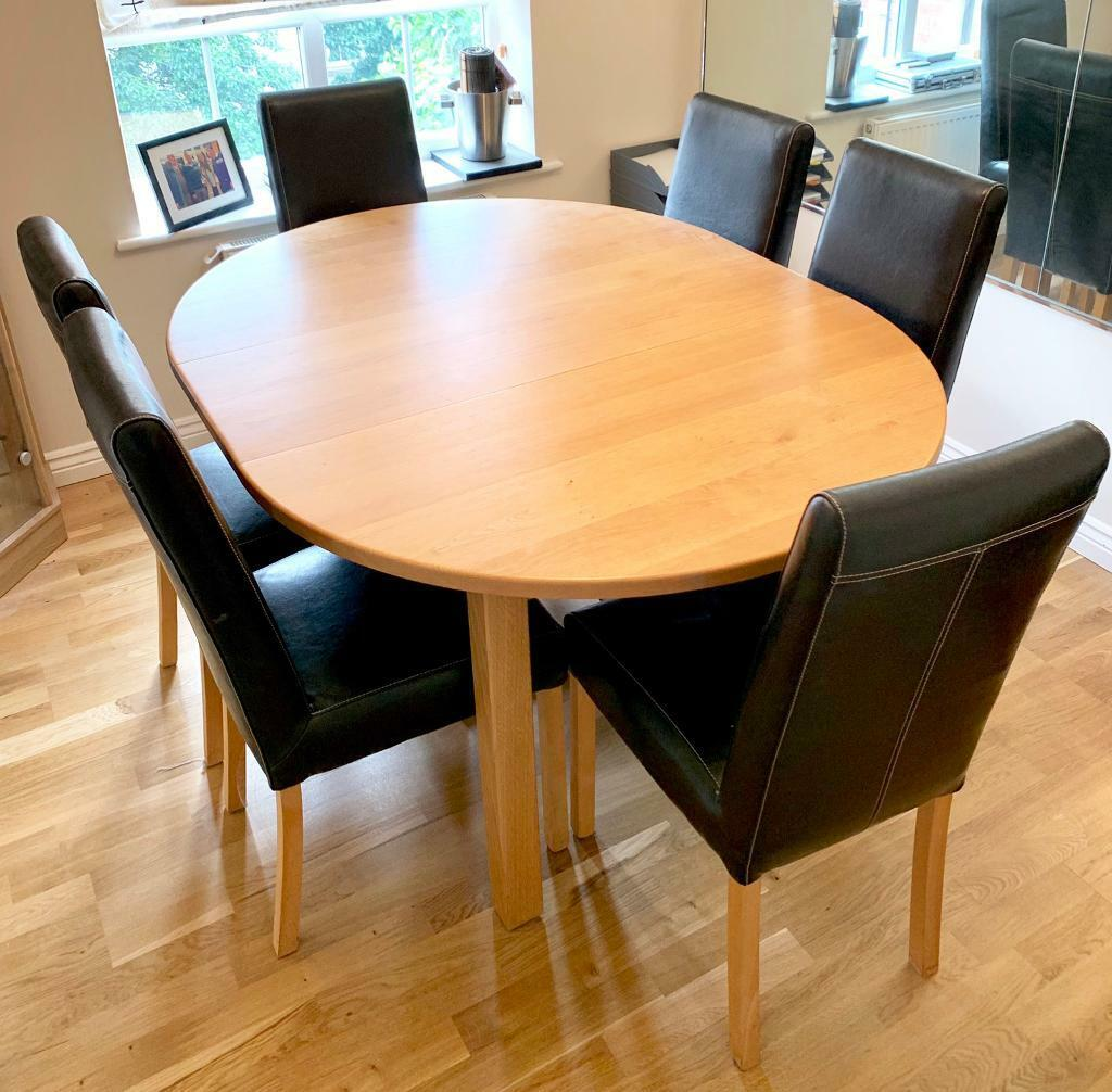 Outstanding Solid Oak Dining Table Chairs In West Bridgford Nottinghamshire Gumtree Interior Design Ideas Gresisoteloinfo
