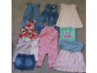 Girls summer bundle size 6-9months